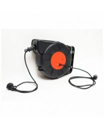 KE POWERCORD REEL 25M BLACK