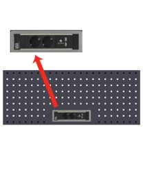 BOXO PERFORATED PANEL WITH POWER SUPPLY