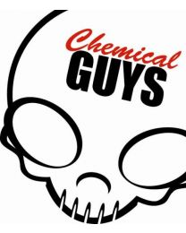 CHEMICAL GUYS STICKER (DECAL) SKULL WHITE / RED
