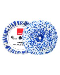RUPES TWISTED WOOL PAD WIT / BLAUW 150MM