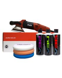 FLEX XC 3401 VRG ORBITAL POLISHER (DUAL ACTION) STANDARD KIT (7 ITEMS)