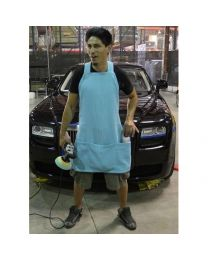 MICROFIBER DETAILING APRON WITH POCKETS AND STRAPS FOR CORDS
